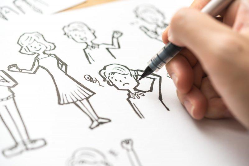 文字情報を補助する「イラストレーション」