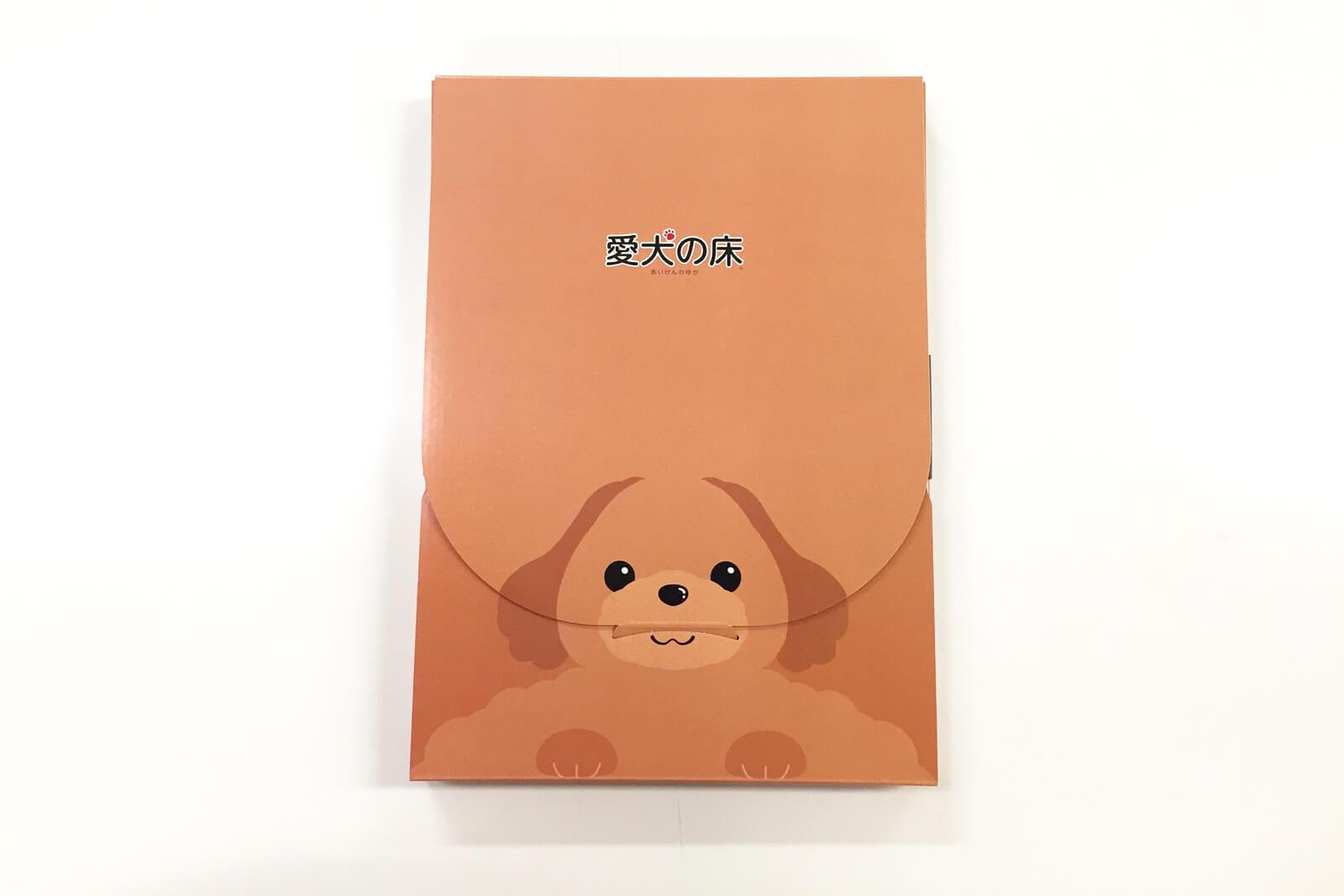 【オリジナルパッケージで差別化を】エコプロコート株式会社様「ネコポス用化粧箱(愛犬の床Ver.)」