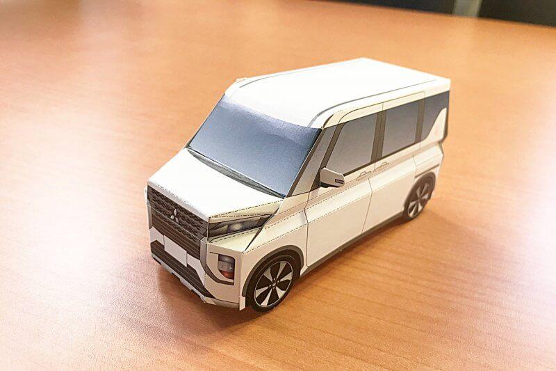 【楽しく作れて、おうち時間の新しい相棒に!】三菱自動車工業様「新型eKクロススペース ペーパークラフト」