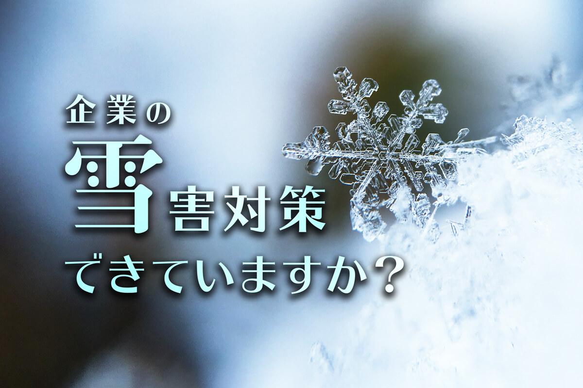 【企業の雪害対策に】災害対応マニュアルで社員の安全を守る